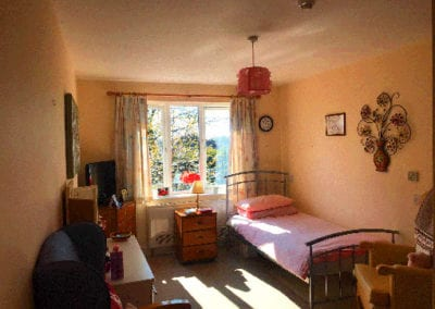 Single bedroom in Digby Manor Care Home Birmingham